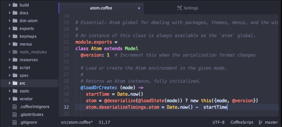 Phần mềm soạn thảo PHP Atom