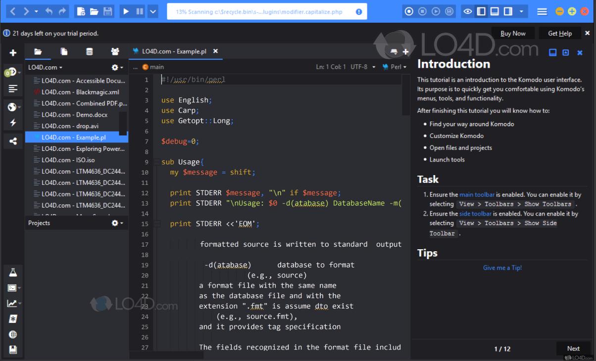 phần mềm thiết kế web Komodo Edit