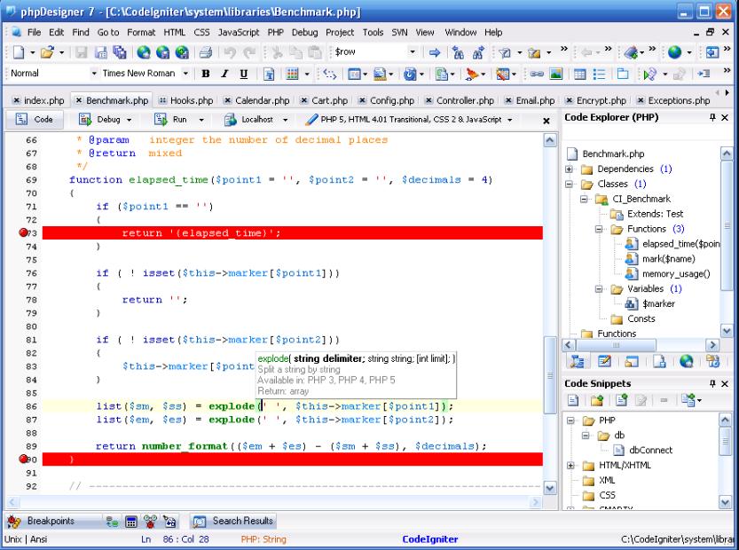 phần mềm php designer