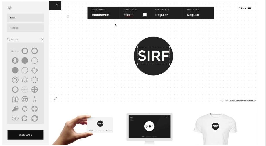 Công cụ thiết kế logo Squarespace