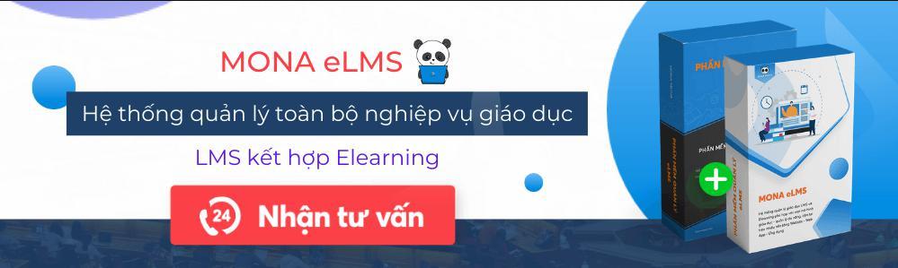 hệ thống web app quản lý trường học Mona eLMS