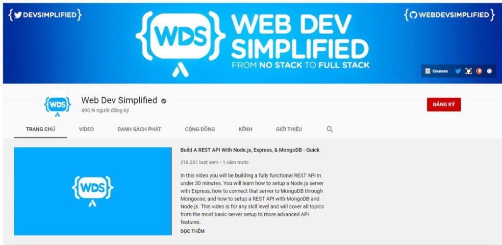 kênh web dev simplified